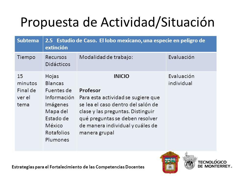Propuesta de Actividad/Situación
