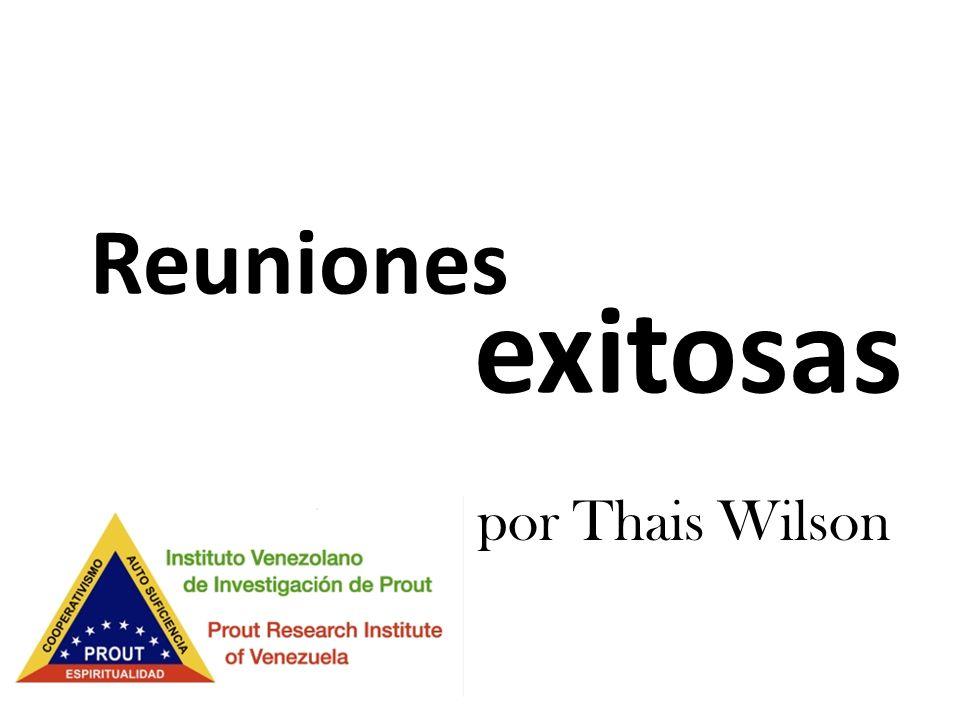 exitosas Reuniones por Thais Wilson