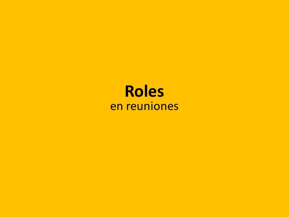 Roles en reuniones