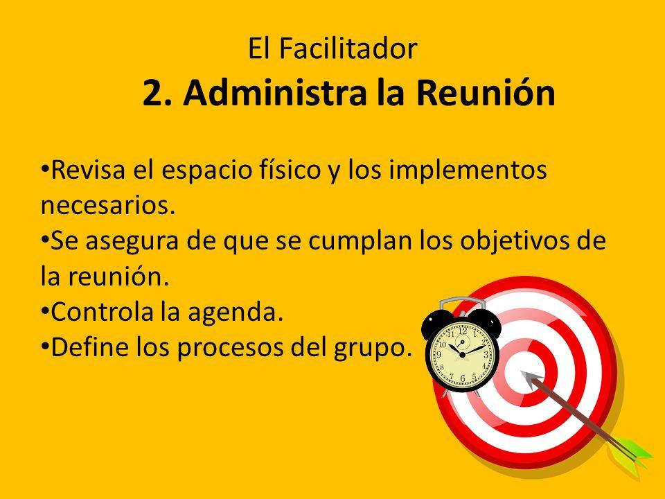 2. Administra la Reunión El Facilitador