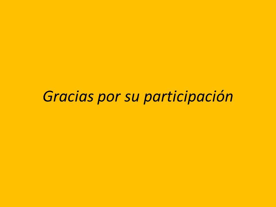 Gracias por su participación