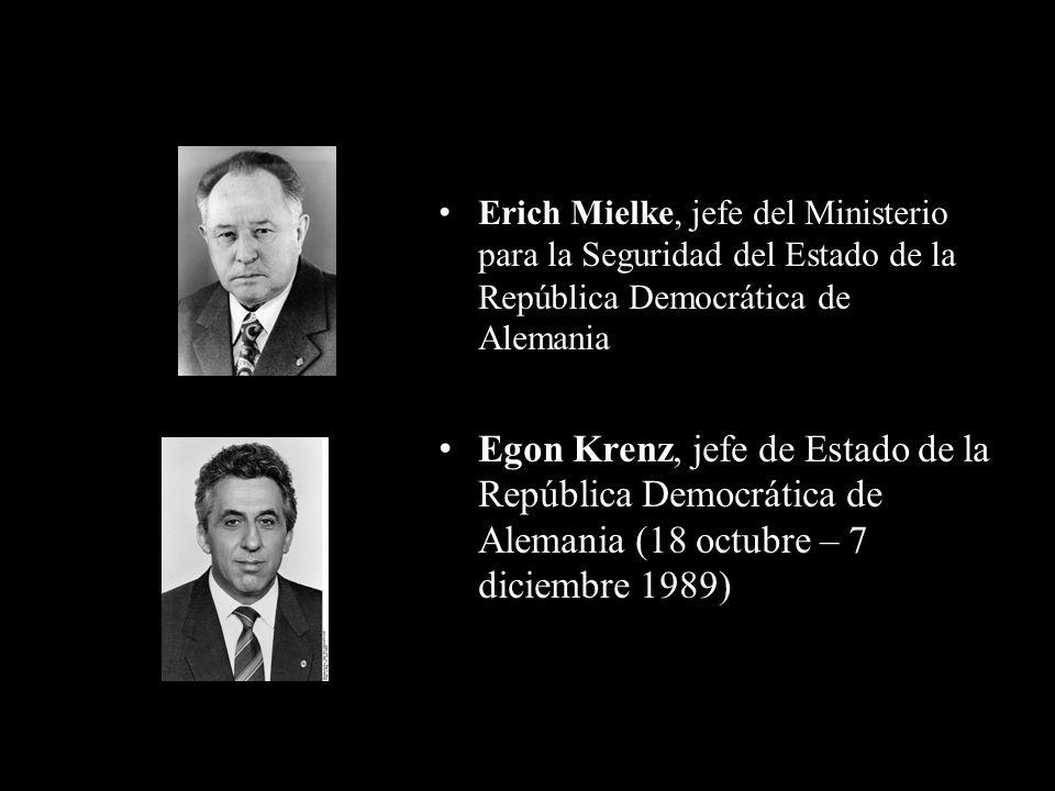 Erich Mielke, jefe del Ministerio para la Seguridad del Estado de la República Democrática de Alemania