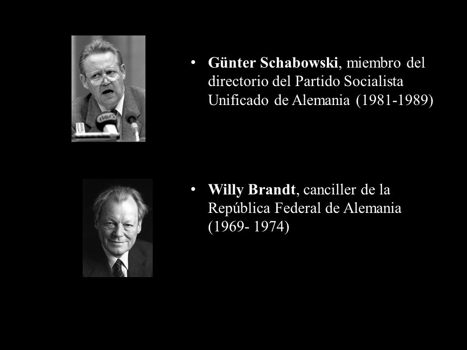 Günter Schabowski, miembro del directorio del Partido Socialista Unificado de Alemania (1981-1989)