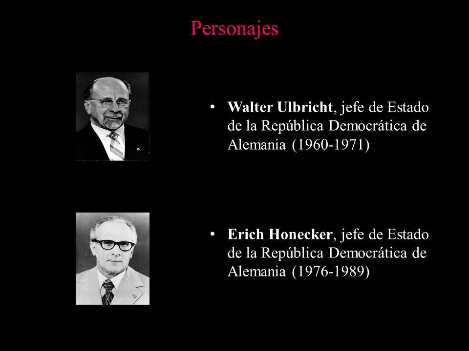 Personajes Walter Ulbricht, jefe de Estado de la República Democrática de Alemania (1960-1971)