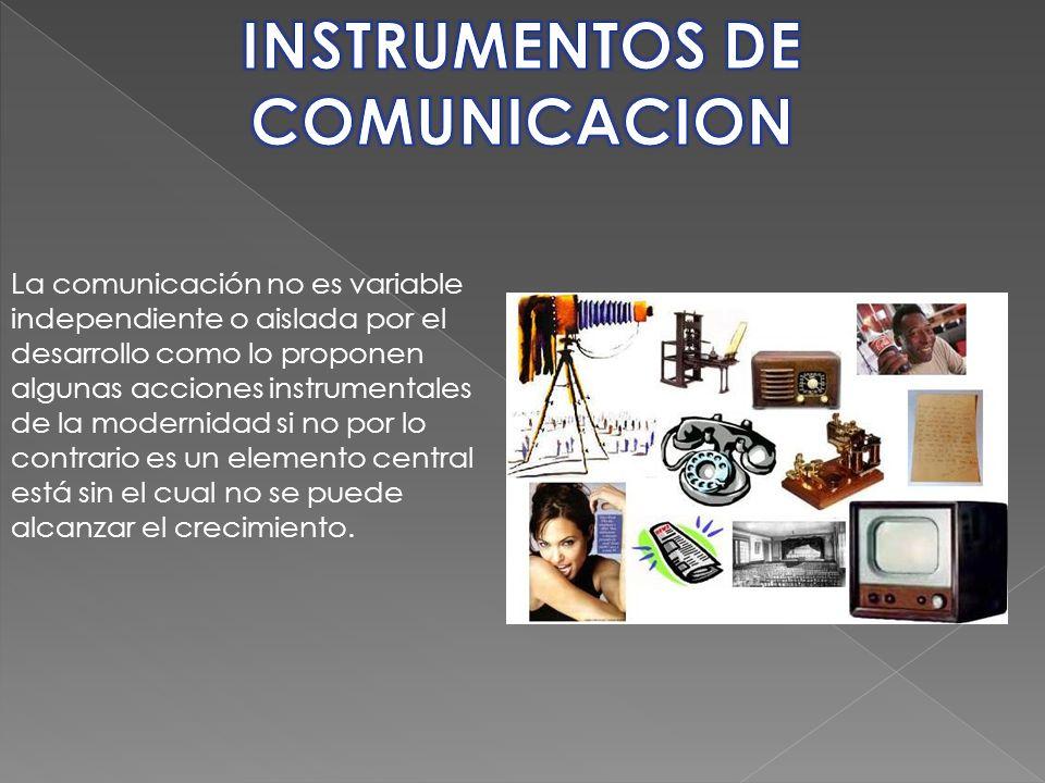INSTRUMENTOS DE COMUNICACION