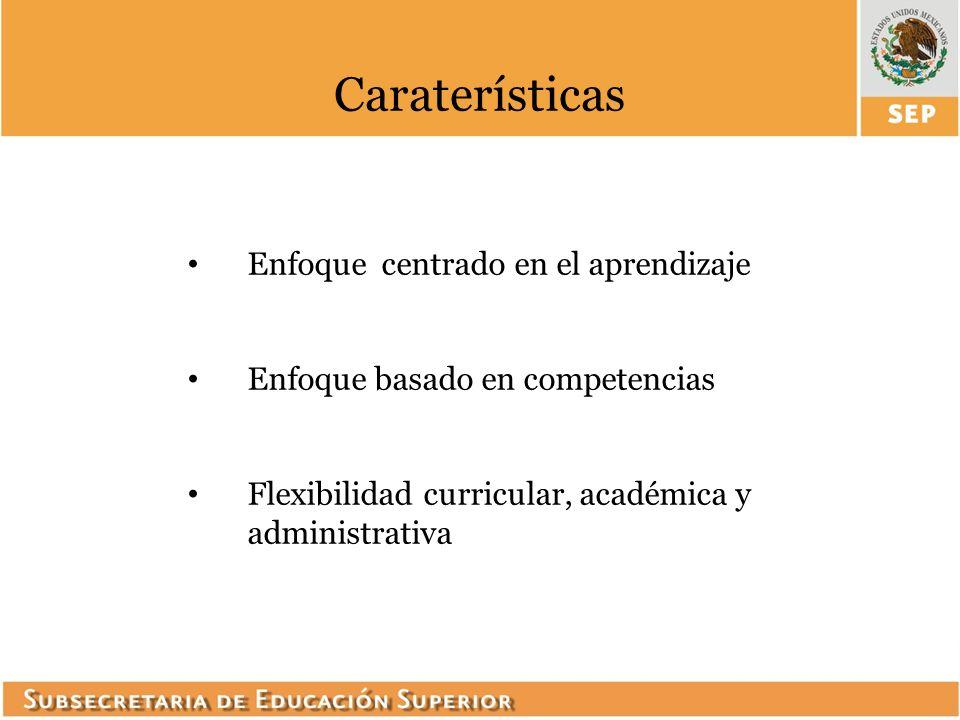 Caraterísticas Enfoque centrado en el aprendizaje