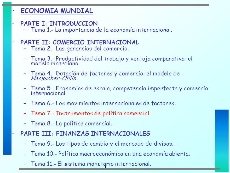 ECONOMIA MUNDIAL PARTE I: INTRODUCCION