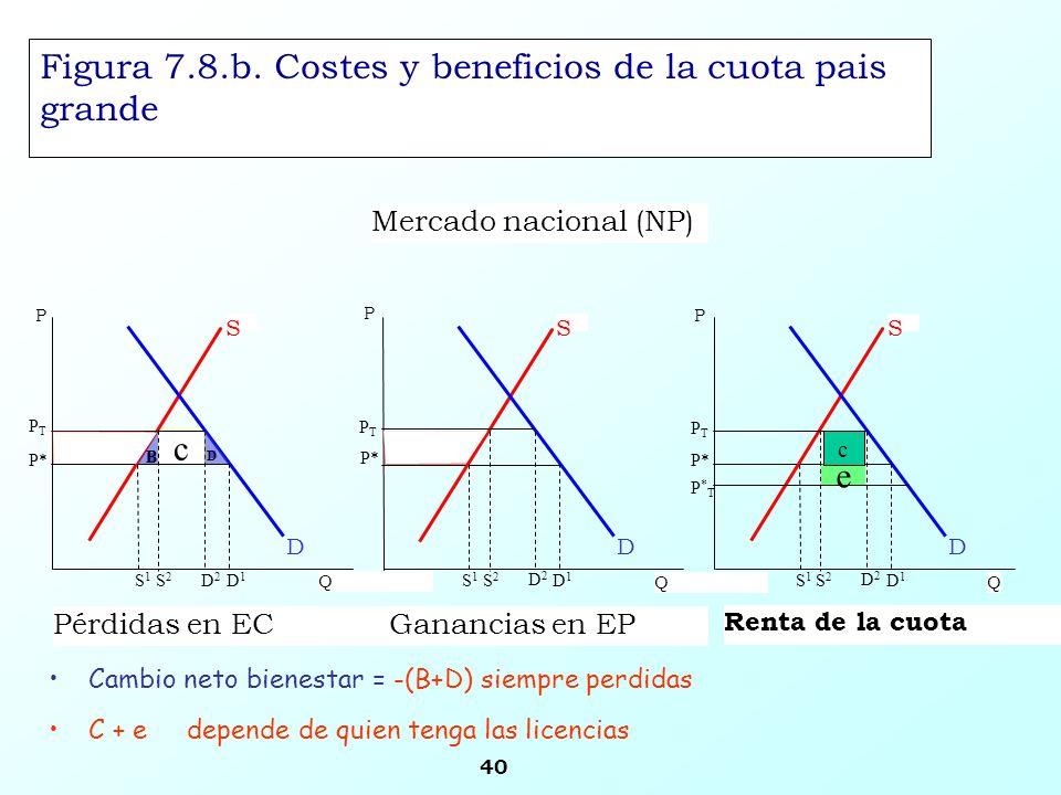 Figura 7.8.b. Costes y beneficios de la cuota pais grande