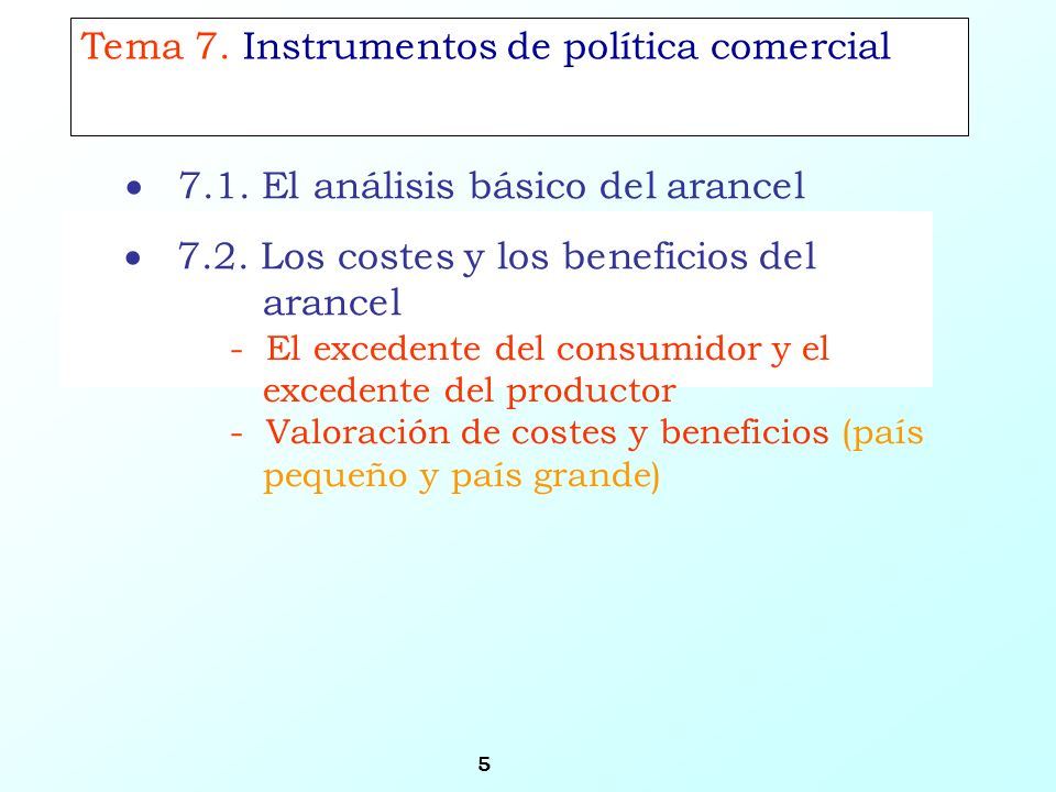 Tema 7. Instrumentos de política comercial