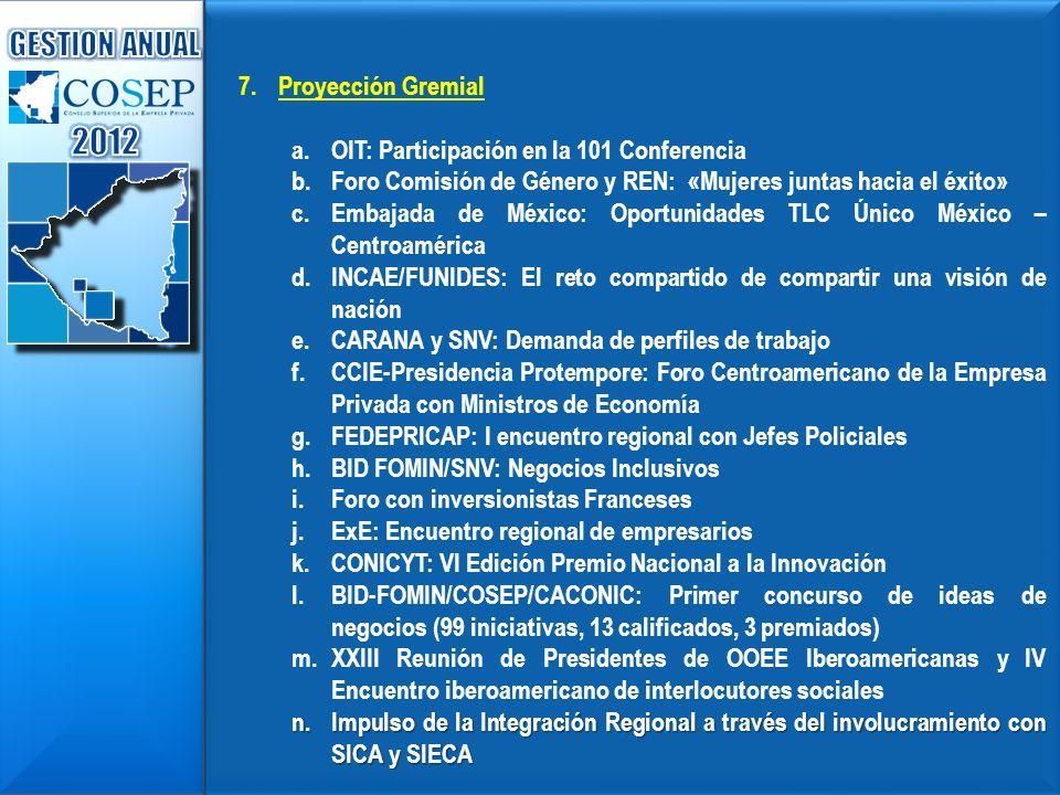 2012 GESTION ANUAL Proyección Gremial