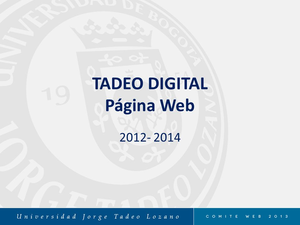 TADEO DIGITAL Página Web