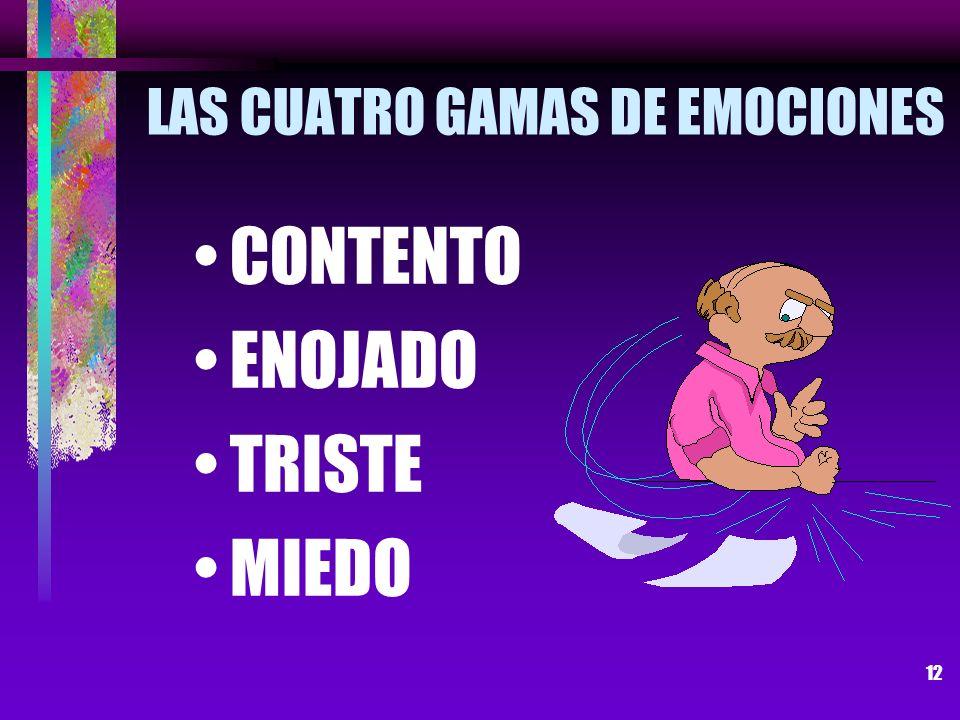 LAS CUATRO GAMAS DE EMOCIONES