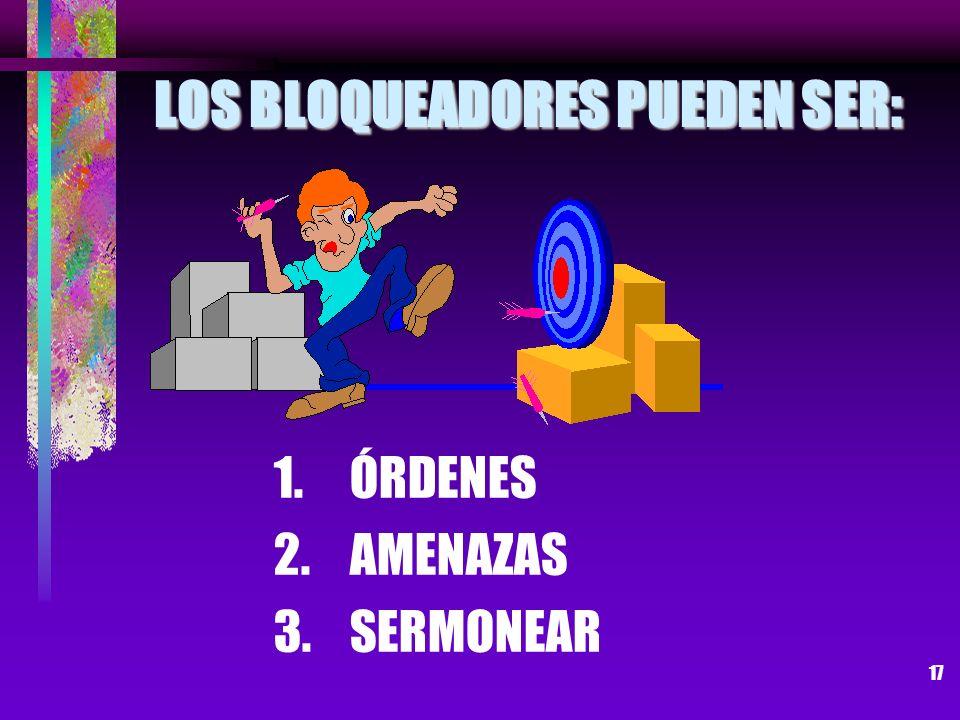 LOS BLOQUEADORES PUEDEN SER: