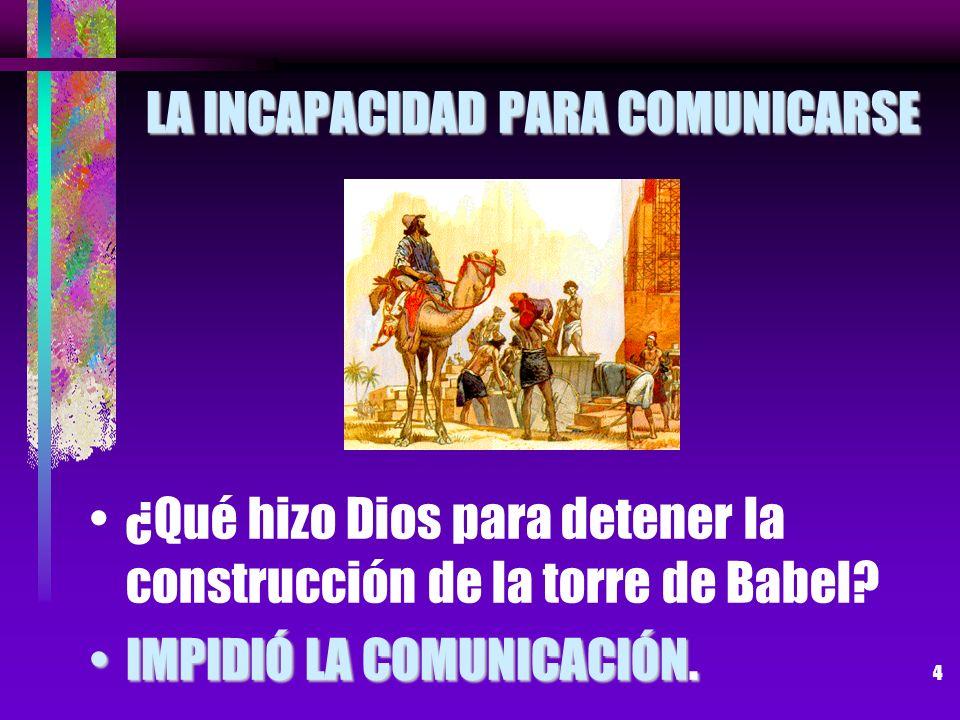 LA INCAPACIDAD PARA COMUNICARSE