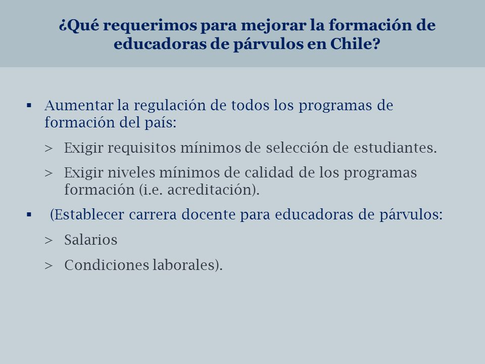 ¿Qué requerimos para mejorar la formación de educadoras de párvulos en Chile