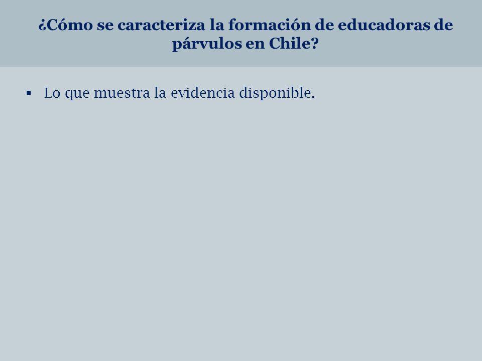 ¿Cómo se caracteriza la formación de educadoras de párvulos en Chile