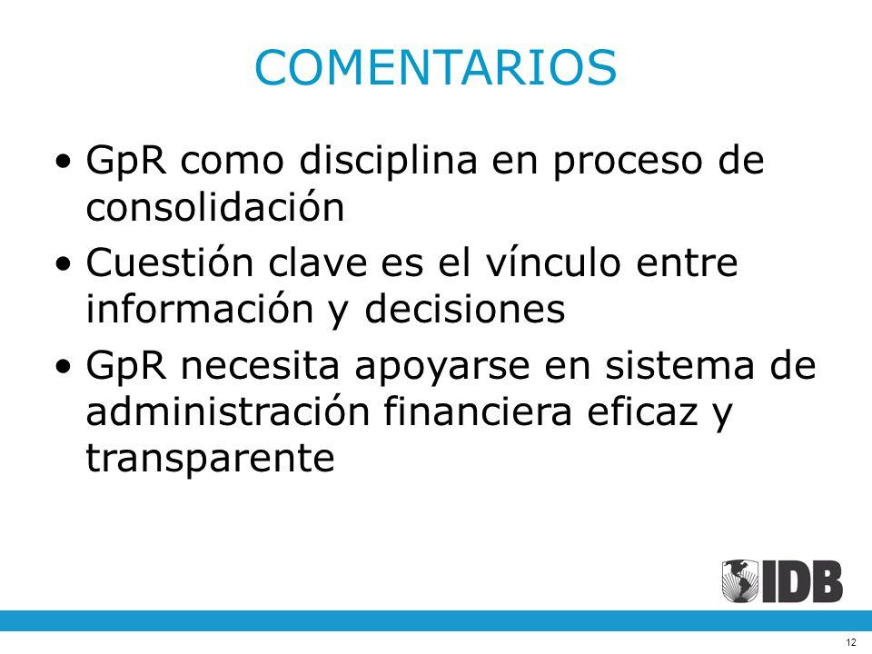 COMENTARIOS GpR como disciplina en proceso de consolidación