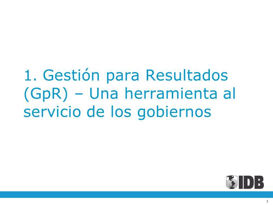 1. Gestión para Resultados (GpR) – Una herramienta al servicio de los gobiernos