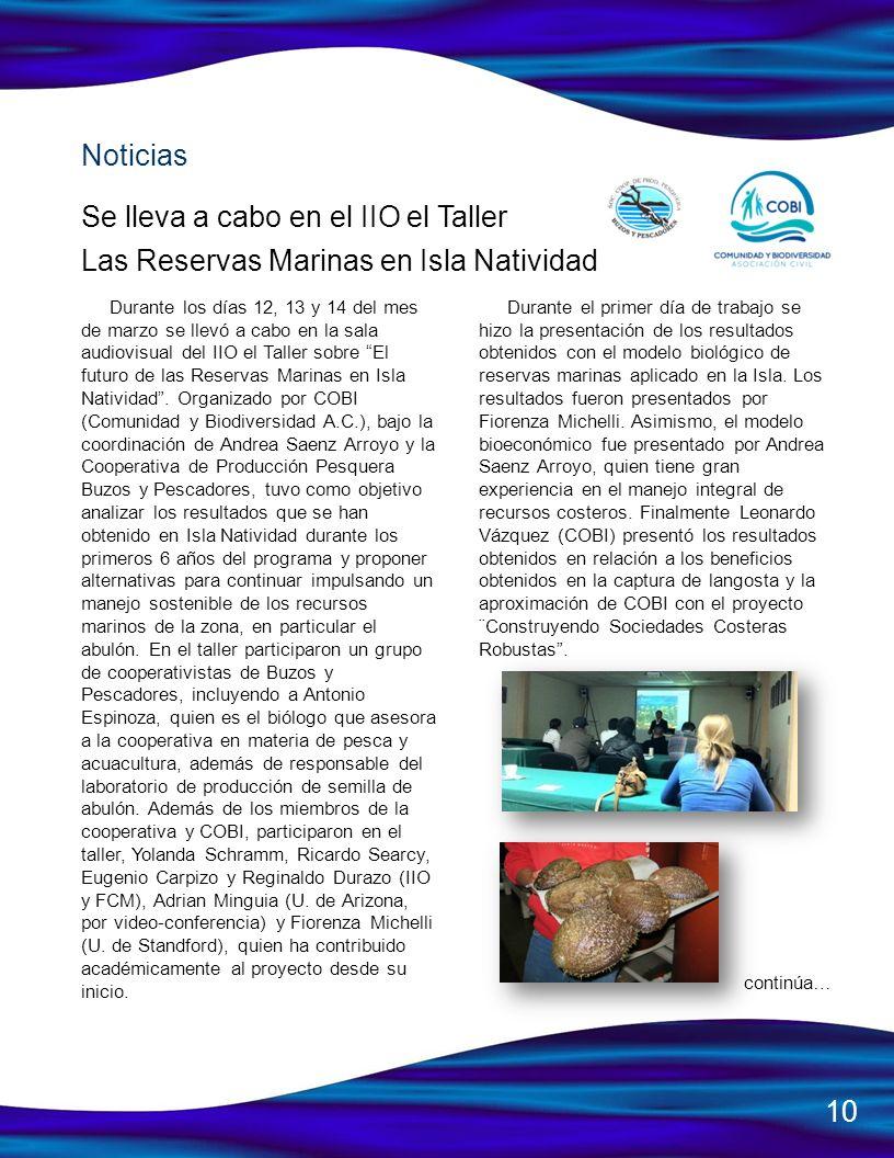 Se lleva a cabo en el IIO el Taller