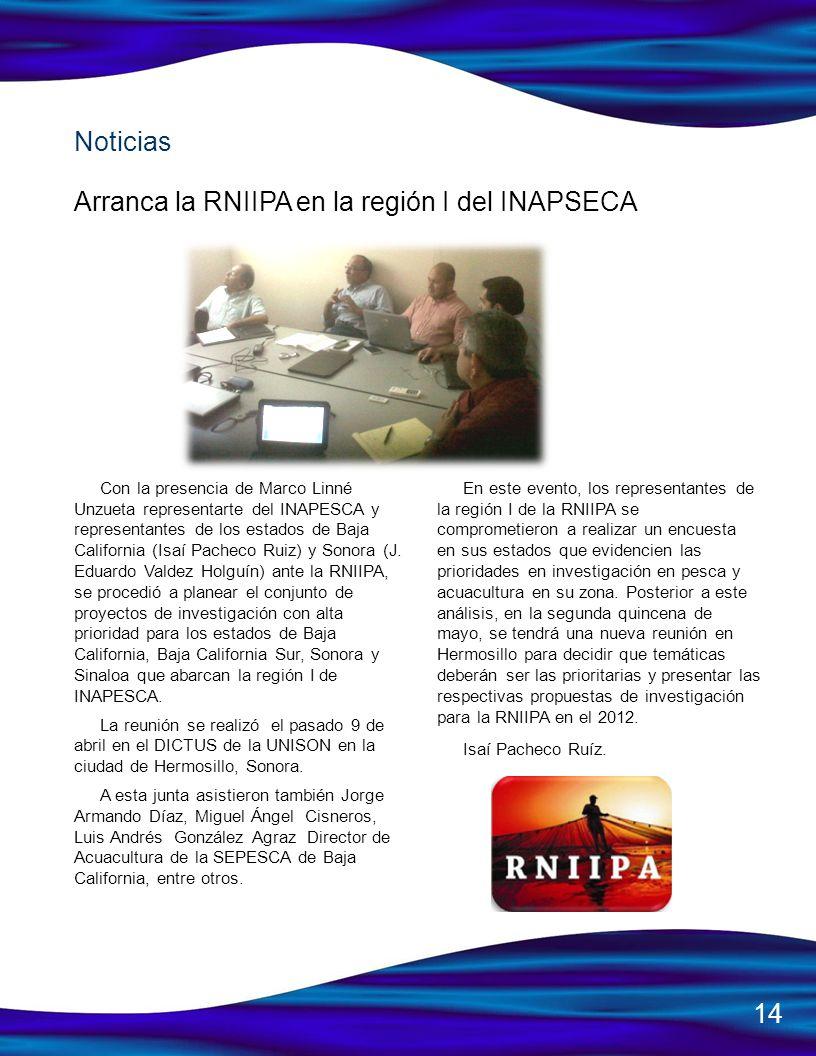 Arranca la RNIIPA en la región I del INAPSECA
