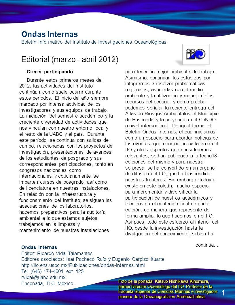 Editorial (marzo - abril 2012)