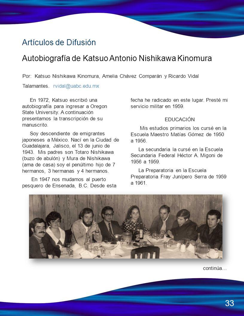 Autobiografía de Katsuo Antonio Nishikawa Kinomura