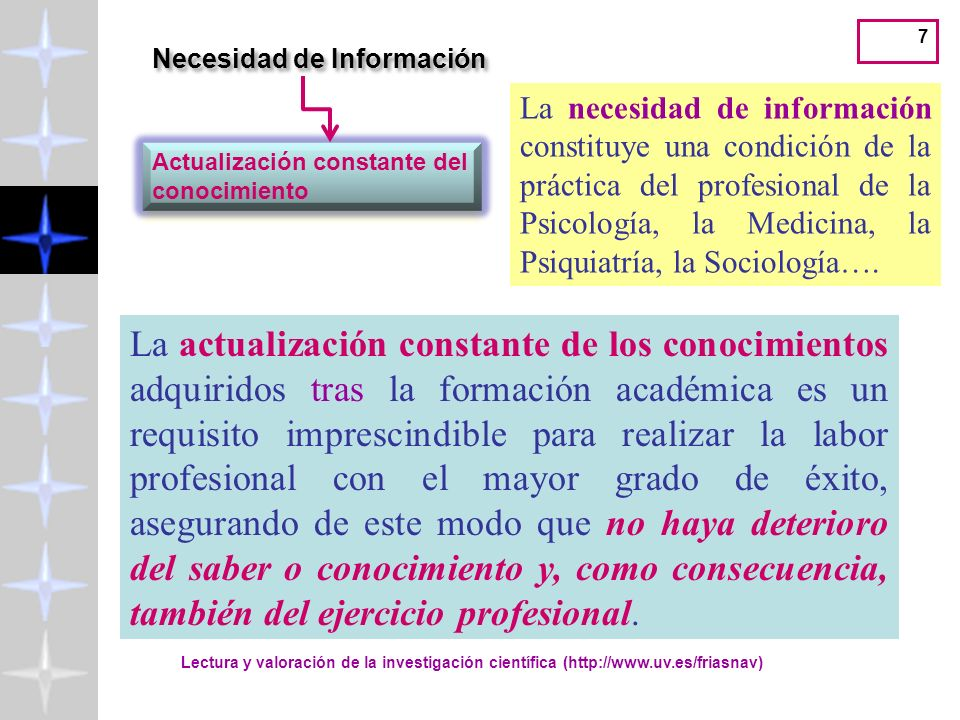 Necesidad de Información