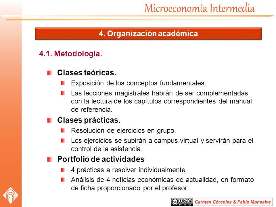 4. Organización académica
