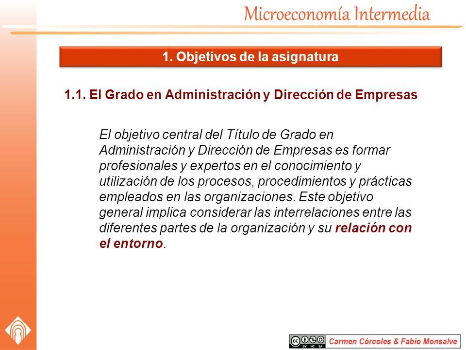 1.1. El Grado en Administración y Dirección de Empresas