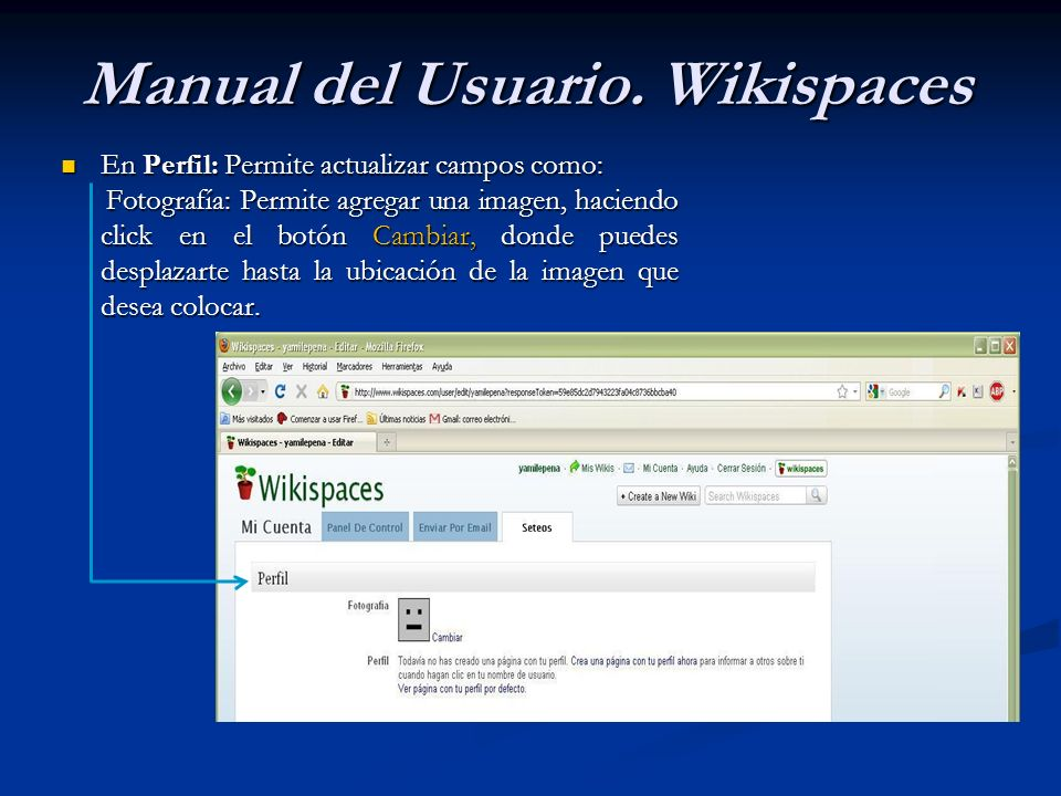 Manual del Usuario. Wikispaces