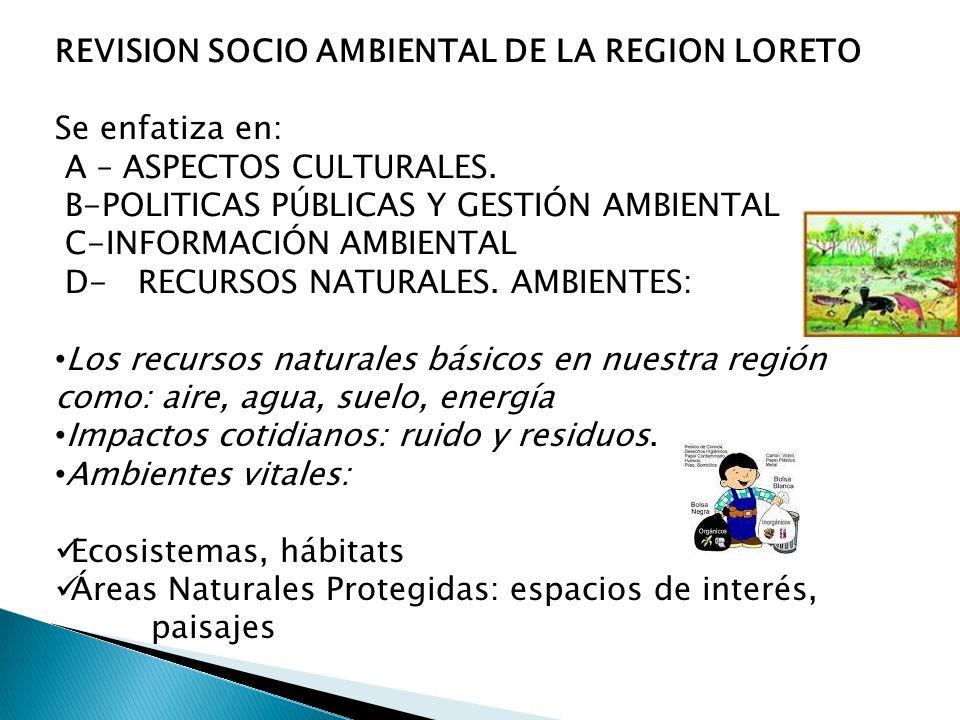 REVISION SOCIO AMBIENTAL DE LA REGION LORETO