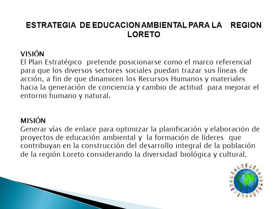 ESTRATEGIA DE EDUCACION AMBIENTAL PARA LA REGION LORETO