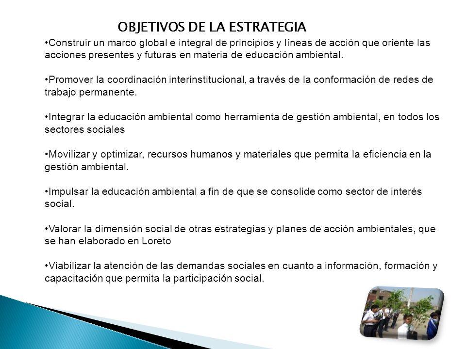 OBJETIVOS DE LA ESTRATEGIA