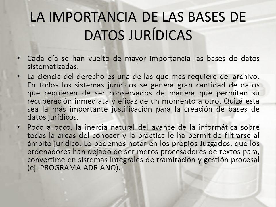LA IMPORTANCIA DE LAS BASES DE DATOS JURÍDICAS
