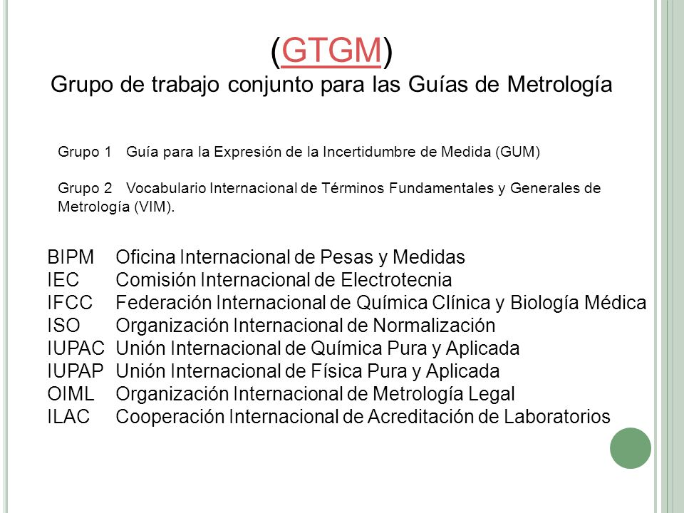 Grupo de trabajo conjunto para las Guías de Metrología