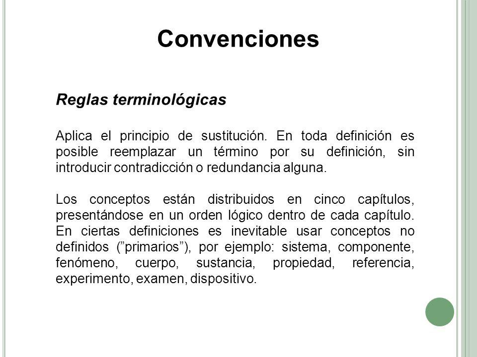 Convenciones Reglas terminológicas