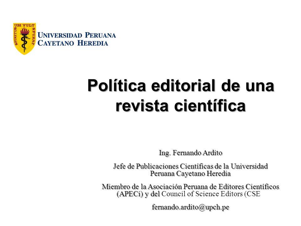 Política editorial de una revista científica