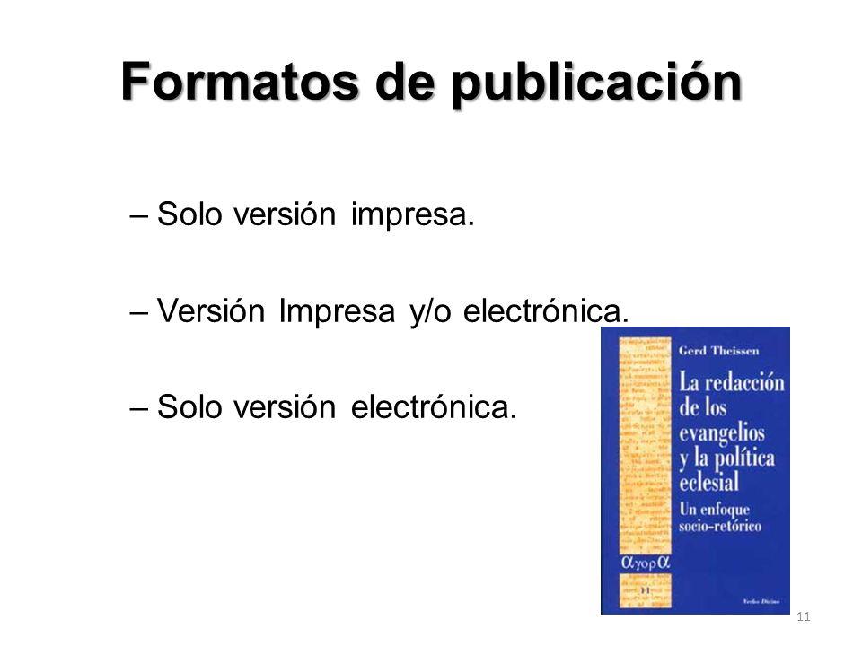 Formatos de publicación