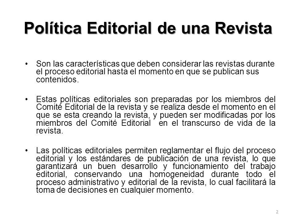 Política Editorial de una Revista