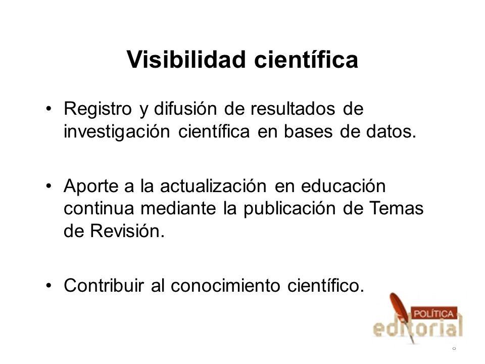 Visibilidad científica