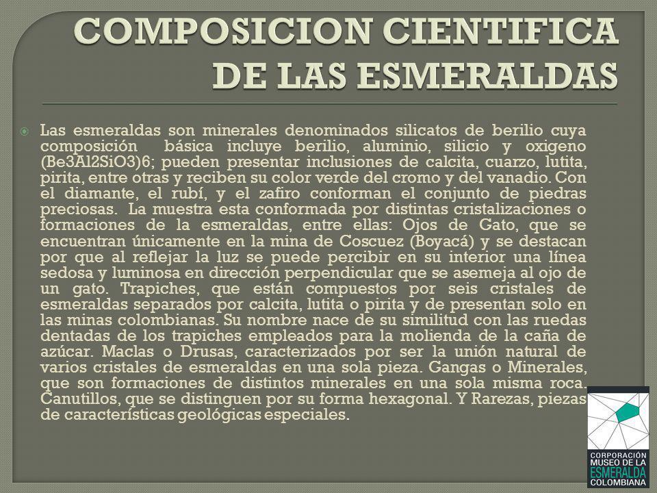 COMPOSICION CIENTIFICA DE LAS ESMERALDAS