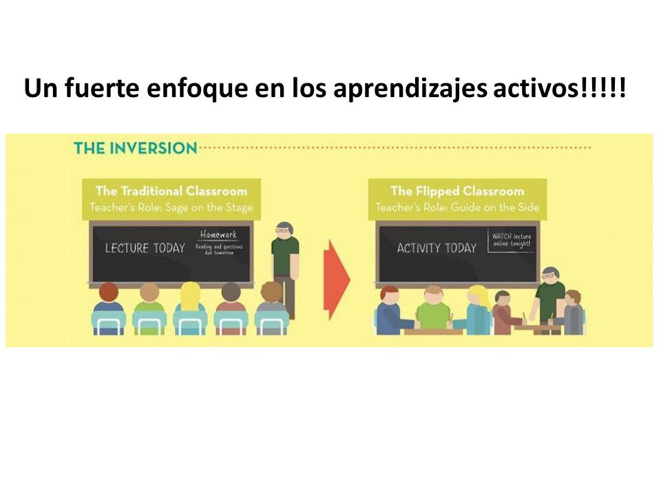 Un fuerte enfoque en los aprendizajes activos!!!!!