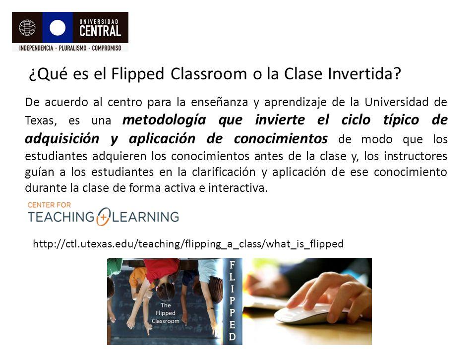 ¿Qué es el Flipped Classroom o la Clase Invertida