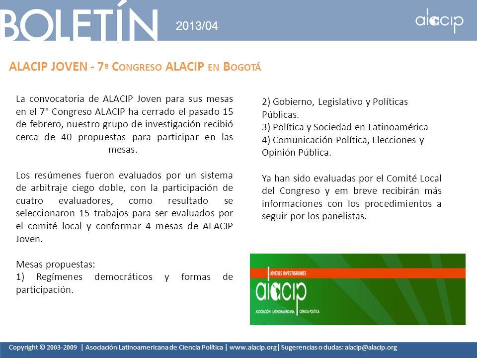 ALACIP JOVEN - 7º Congreso ALACIP en Bogotá