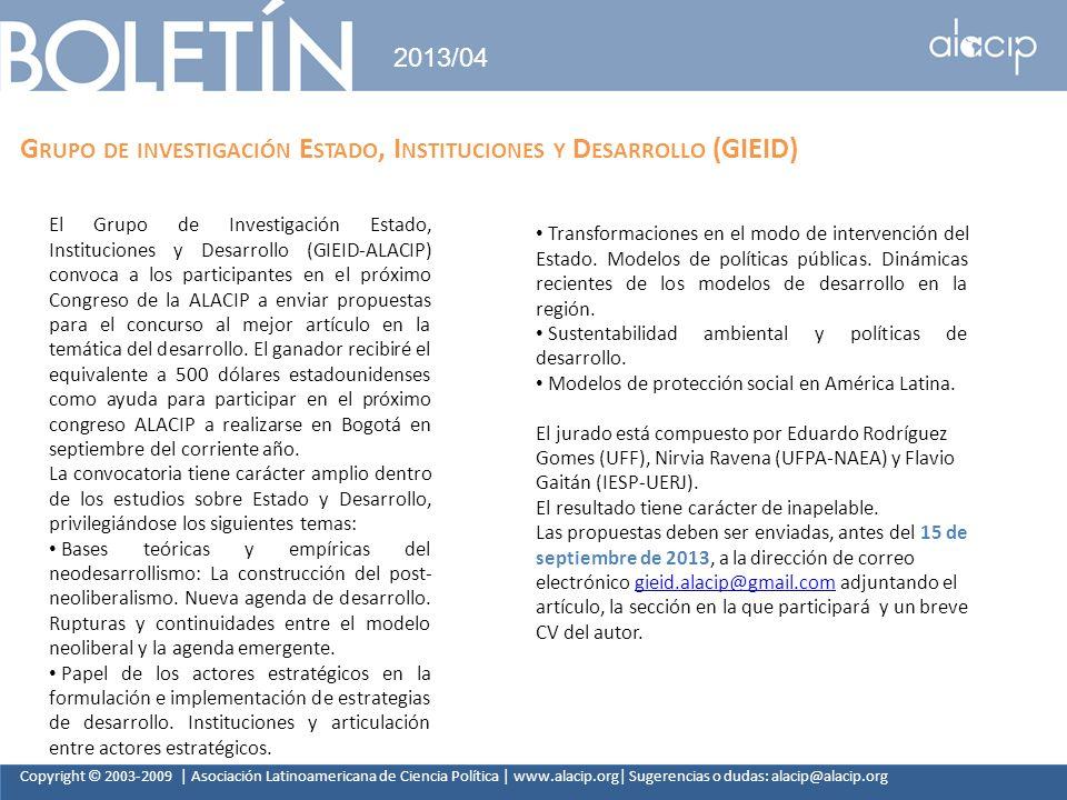 Grupo de investigación Estado, Instituciones y Desarrollo (GIEID)