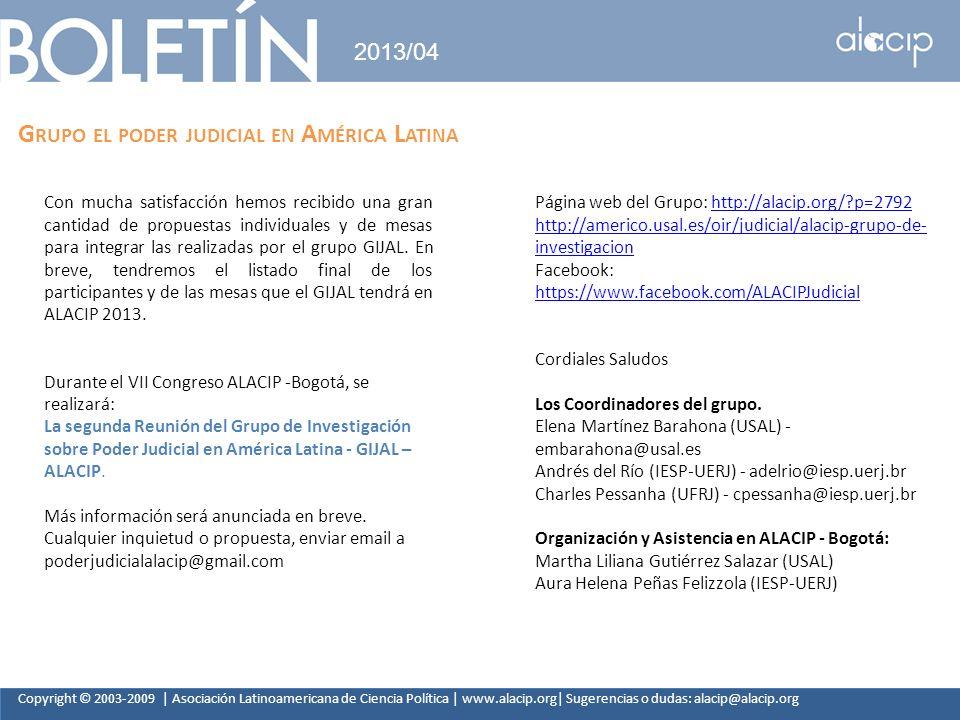 Grupo el poder judicial en América Latina