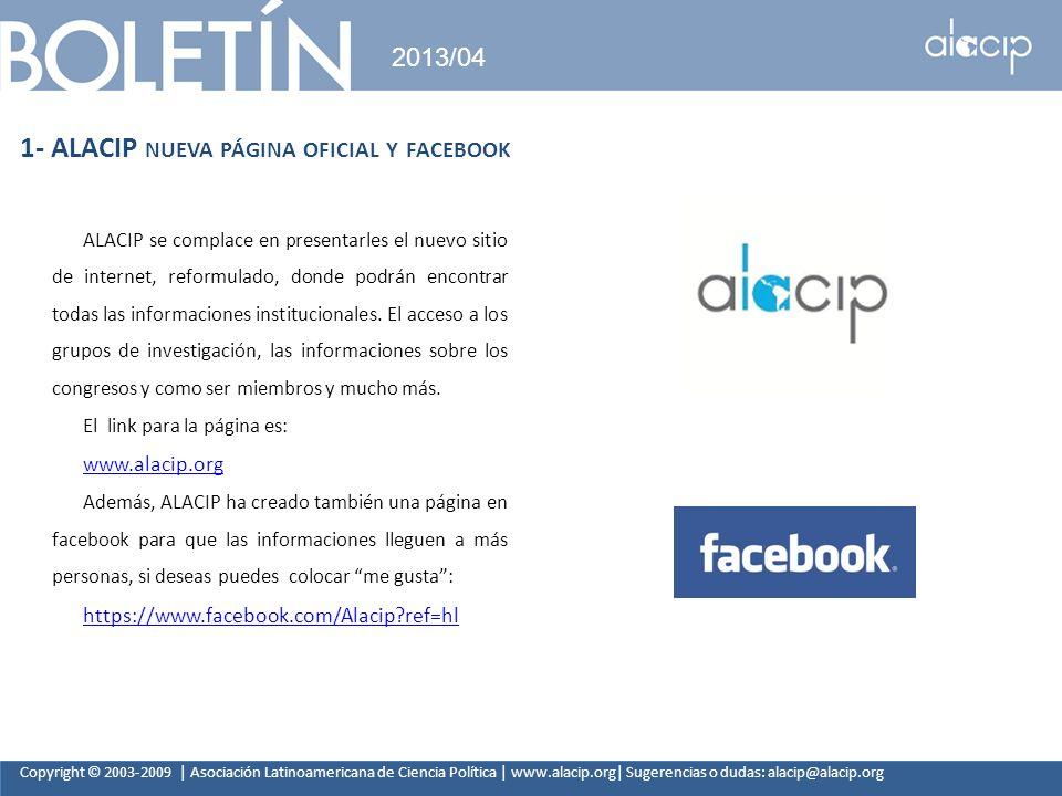 1- ALACIP nueva página oficial y facebook