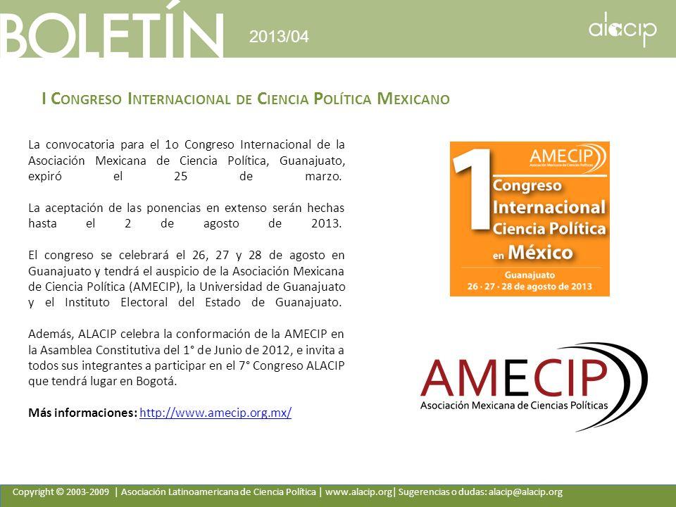 I Congreso Internacional de Ciencia Política Mexicano