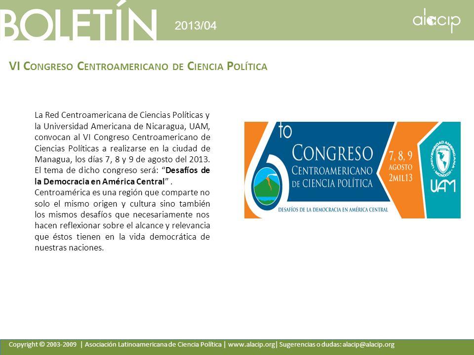VI Congreso Centroamericano de Ciencia Política