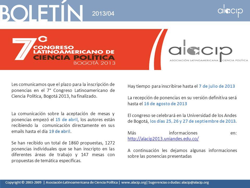 2013/04 Hay tiempo para inscribirse hasta el 7 de julio de 2013